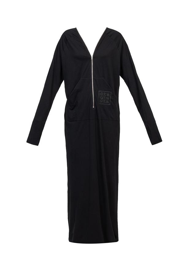 ORIENT ZIP LONG dress