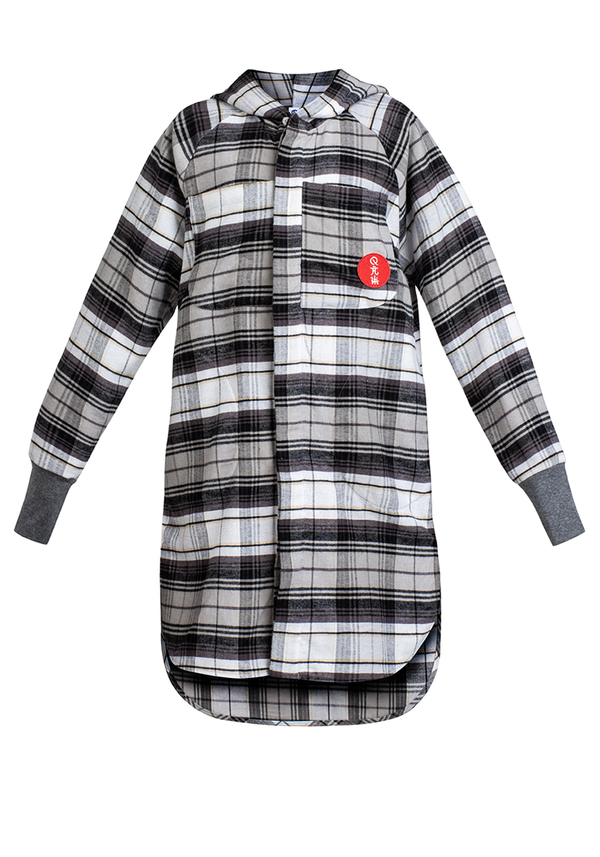 KIDS HOOD FLANNEL shirt